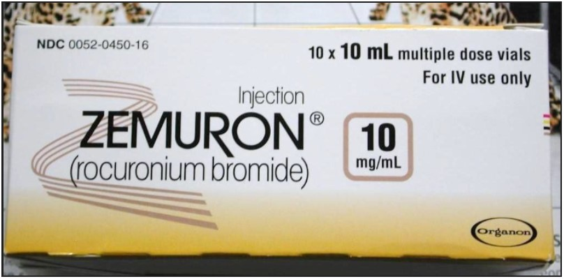 Figure 3. Carton of Zemuron Shows a Concentration of 10mg/mL, but Each Vial Contains 10 mL (100 mg/mL)