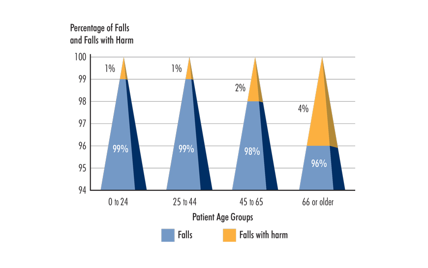 Figure 4. Percentage of Falls and Falls with Harm by Patient Age Groups