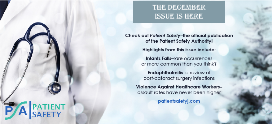 Check Out the Latest PATIENT SAFETY