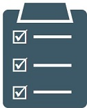 Icon of a clipboard checklist