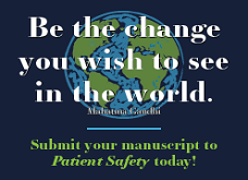 Submit PATIENT SAFETY journal manuscripts