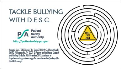 Tackle Bullying with D.E.S.C. (front)