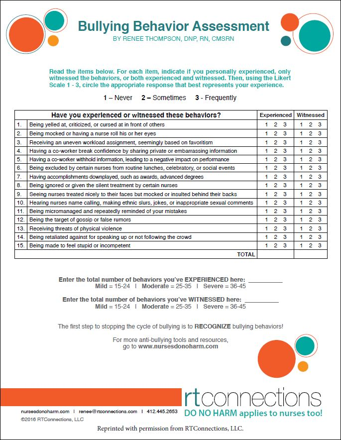 Bullying Behavior Assessment