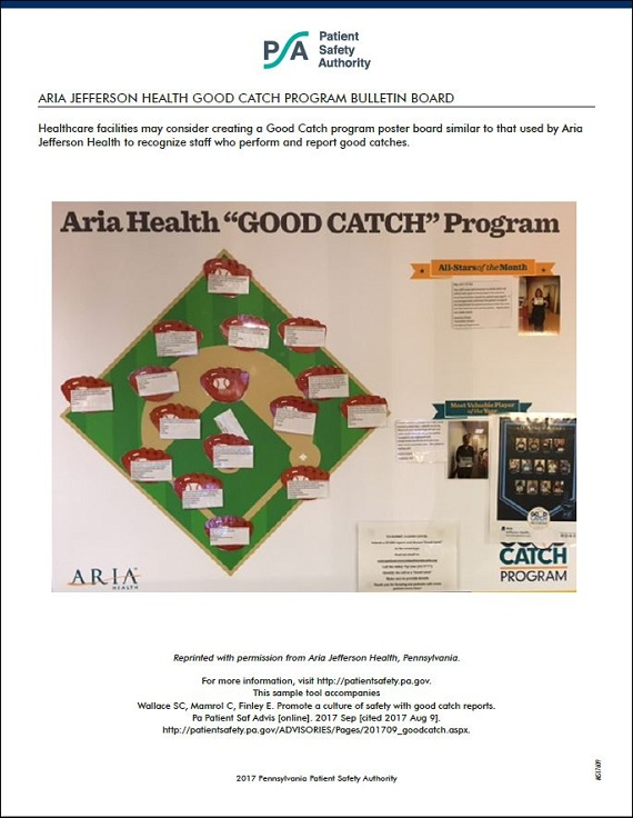 Good Catch Program Bulletin Board
