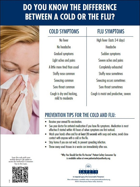 Do You Know the Difference between a Cold or the Flu?