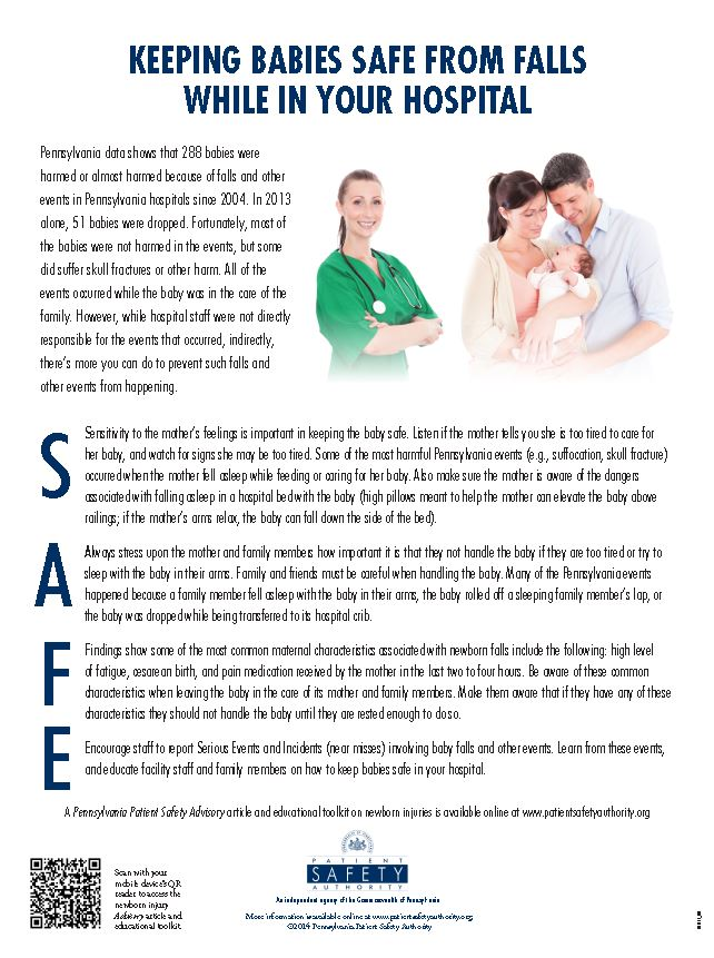 Keeping Babies Safe from Falls while in Your Hospital