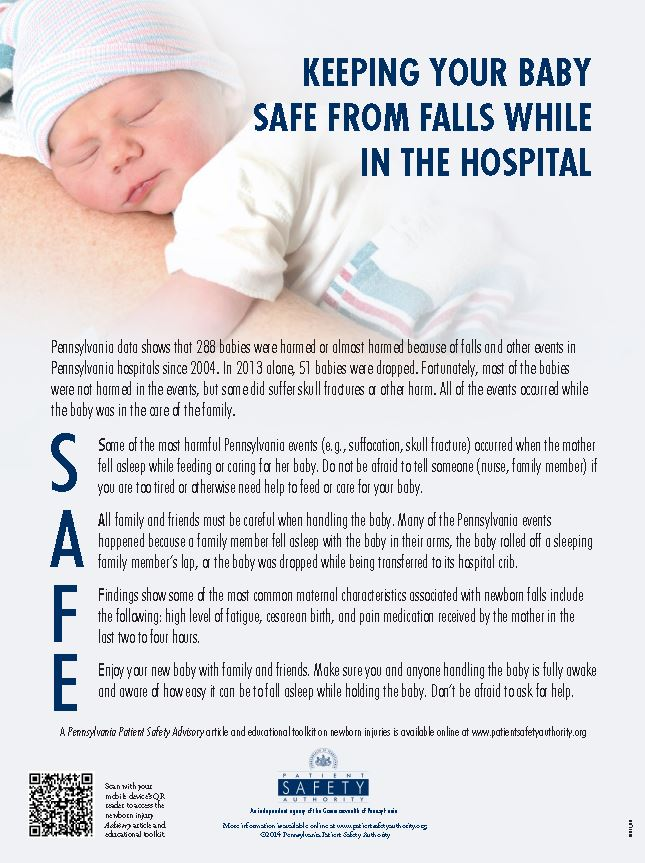 Keeping Your Baby Safe from Falls while in the Hospital