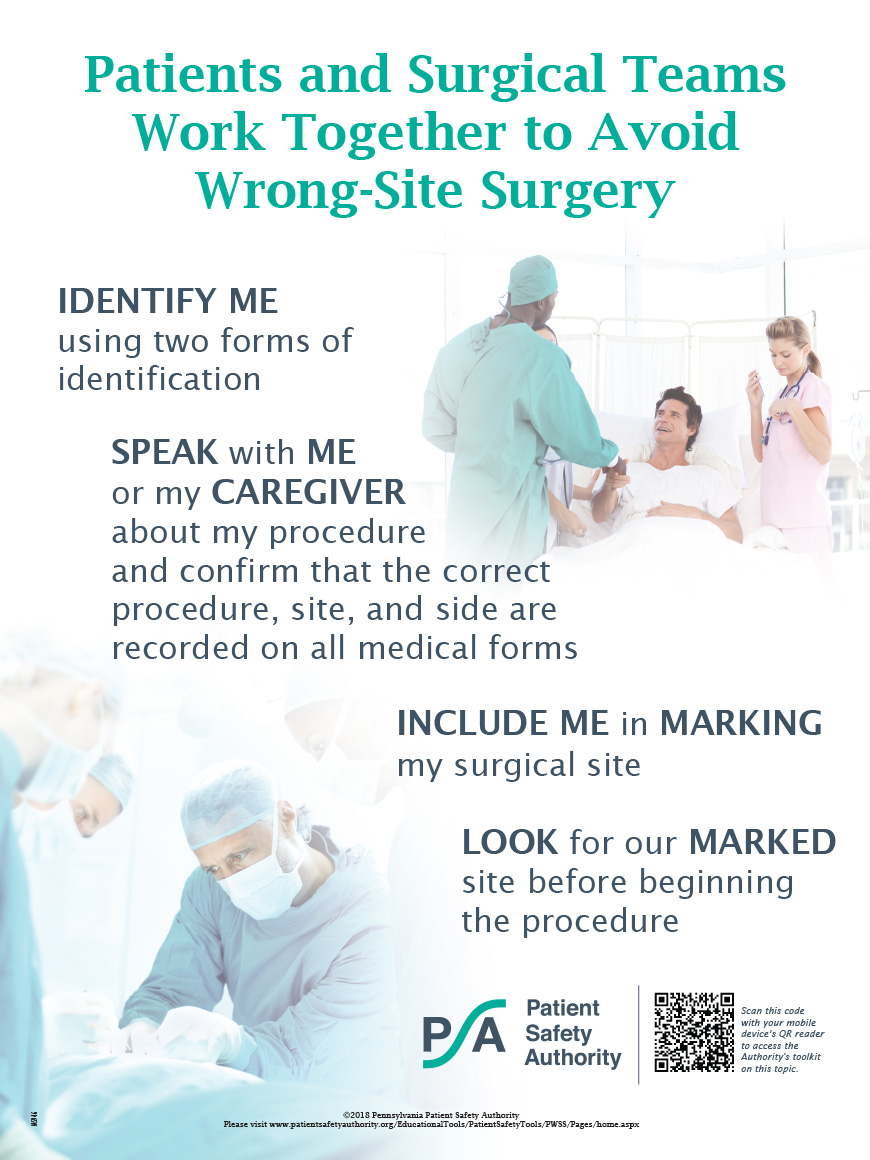 Patients and Surgical Teams Work Together to Avoid Wrong-Site Surgery